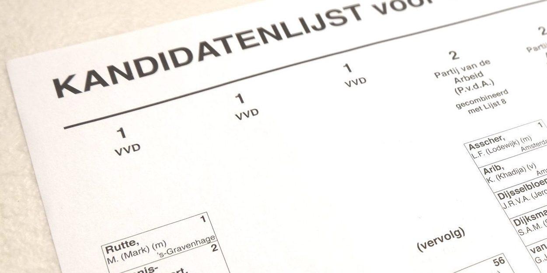 Drie nieuwe partijnamen voor de Tweede Kamerverkiezingen